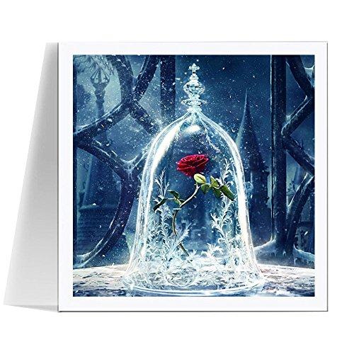 diamant malerei 5d set 30 cm x 30 cm diy diamant painting bilder voll rose blume