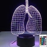 Lungenform Figur 3D LED Nachtlicht Tischlampe Nachttisch Dekoration Kinder Geschenk