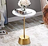 YWXCJ Tavolini da caffè Lado del sofá Varios Creativo Creativo Redondo pequeña Mesa de Centro Simple de Hierro Forjado de Madera Maciza Mini Mesa Auxiliar móvil tavolini di piccole dimensioni
