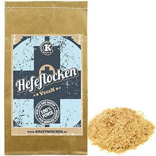 Edel Hefeflocken 500g - Vegan - Auf Basis von Melasse - Glutenfrei - Laktosefrei
