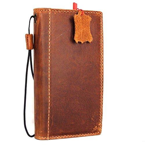Genuine 100% Leather Case for iPhone 6 Plus + Book Wallet Handmade Business Luxury Retro Davis