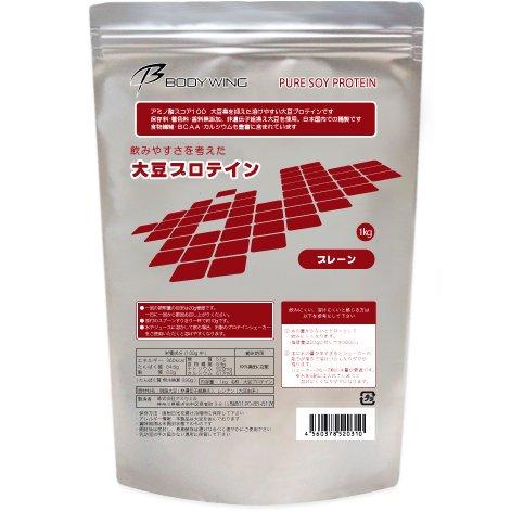 ボディウイング 大豆プロテイン 無添加 飲みやすいソイプロテイン (1kg)