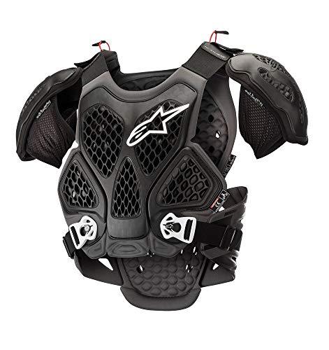 Alpinestars Protector De Pecho Mx Bionic Negro-Gris (Xl/Xxxxl, Negro)