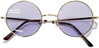 【全19色】 伊達メガネ サングラス ライトカラーレンズ 薄い色 ダテメガネ だてめがね ボストン 丸メガネ 丸めがね 丸眼鏡 メンズ レディースレンズ 丸型 カラーレンズサングラス UVカット