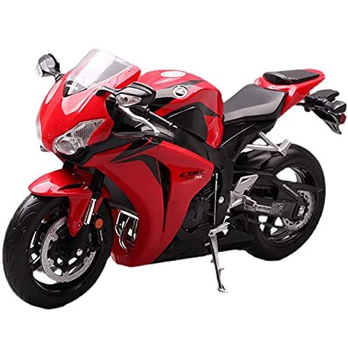 PPQQBB Willie 1:10 para Ho┐nda Kaw┐asaki Simulación Aleación Motocicleta Motocicleta Modelo de Locomotora Adornos Regalos de decoración de colección (Color: Rojo)