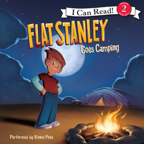 Flat Stanley Goes Camping audiobook cover art