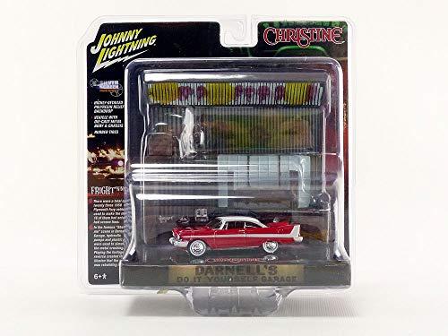 Johnny Lightning JLSP032 1:64 Christine Plymouth Fury with Garage Diorama, Multi