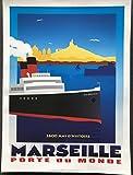 Poster Marseille Tür der Welt/Paquebot – 30 x 40 cm