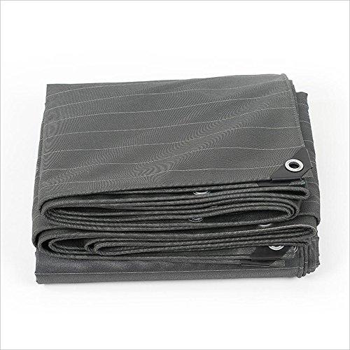 YSDHE Doble Impermeable Lona Gris Grueso Paño de Sombra Al Aire Libre Cubierta de Camping Hoja Lonas sombrilla Tienda, Espesor 0.5mm (Size : 6X 6m)