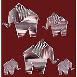 Stoffonkel Bio Jersey Designerstoff Elephant Kirsche (GOTS)