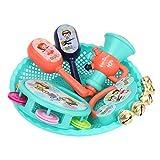 Spielzeug Kinder Baby Musikinstrumentenset Kinder Trommel Spielzeug Kleinkind Musikinstrumente Shaker Percussion Tamburin Set