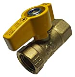 1 PIECE XFITTING 1/2' IPS BRASS GAS BALL VALVE, CSA APPROVED 1/4 TURN - PROPANE, NATURAL GAS, METAL HANDLE
