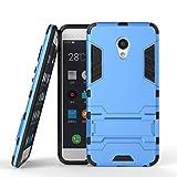 Hülle Für Meizu MX6 - pinlu® Raffinierte Kombination aus Rutschfestem TPU- Und Gehärtetem Polycarbonat Hülle 2-Lagen Hybrid Hard Cover Schutzhülle Blau