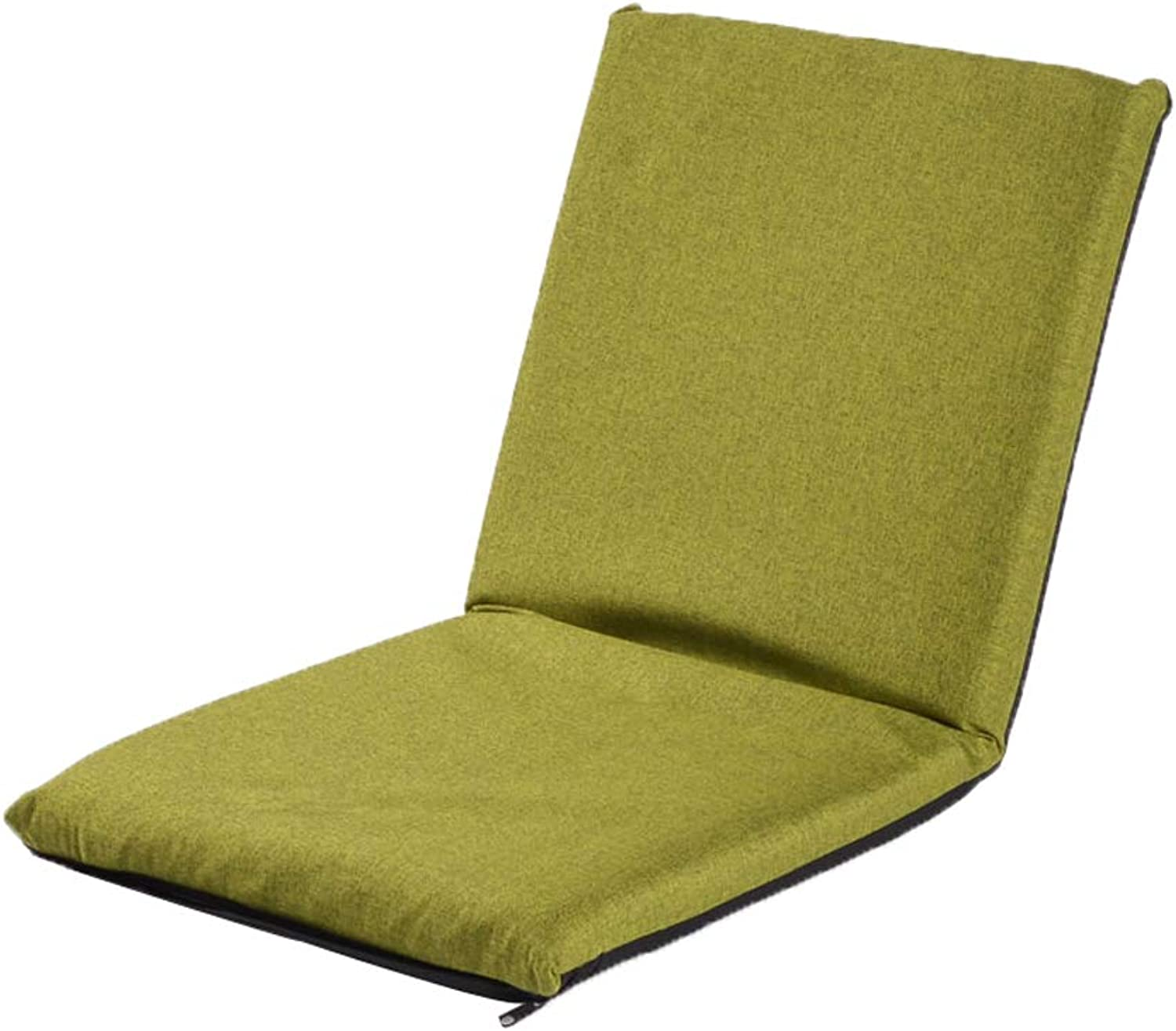FH Lazy Couch, Tatami Backrest Can Be Folded in The Winter and Summer Dual-use Balcony Bay Window Lounge Chair, Can Be Used for Meditation Reading Newspaper, Multi-color Optional (color   Green)