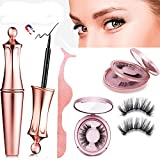 Roiii 3D 5D Magnetic Eyelashes Kit Magnetic Eyeliner For Use with Magnetic False Lashes Natural Look-No Glue Needed