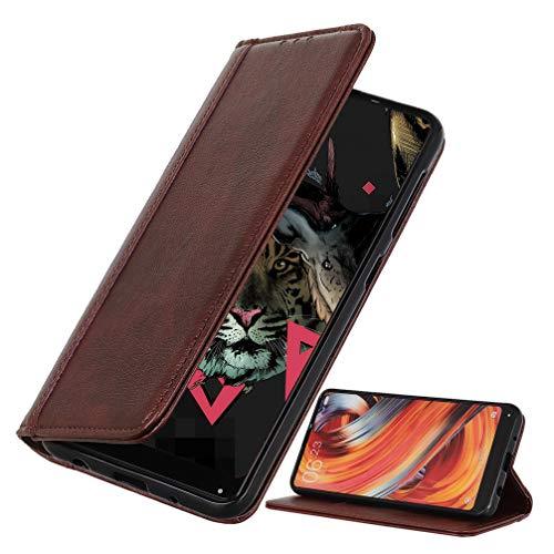 BRAND SET Coque pour Samsung Galaxy M12 Couverture de Premium en Similicuir de Style Portefeuille avec Verrou Magnétique de Sécurité et Fonction de Support Étui pour Galaxy M12(Marron)