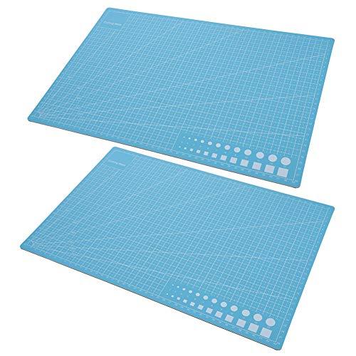 Huairdum Tapete de Corte Modelo A3, tapete de Corte Azul, práctico para tallar Pintura