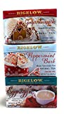Eggnogg'n, Ginger Snappish, and Peppermint Bark Flavors - Variety Bundle of 3 Bigelow Holiday Tea - 54 Total Tea Bags