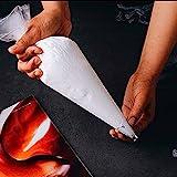 TONGDA 100pcs Manga Pastelera Desechable de Plástico Bolsas de Plástico para Fondant Decoración de Repostería para de Pasteles y Galletas.