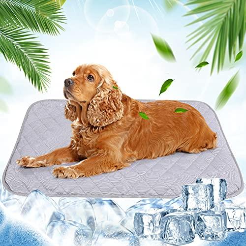 NIBESSER Kühlmatte für Hunde Pet Dog Cooling Mat Selbstkühlende Matte Hunde Katzen Haustier Kühlmatte