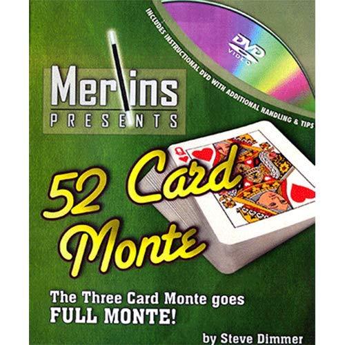 SOLOMAGIA 52 Card Monte by Merlins - Dvd e Didattica - Giochi di Magia e Prestigio