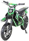 "Kinder Mini Elektro Crossbike""Gepard"" 500 Watt verstärkte Gabel 36 Volt Enduro Motorcrossbike Pocketbike (Grün)"