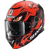 Shark Casco de moto Spartan REPLICA LORENZO GP MAT RKR, Noir/Rouge, XS