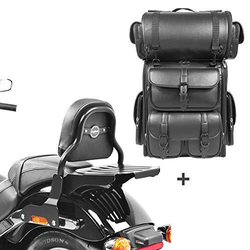 Respaldo CSS Fix + Bolsa Trasera LX para Harley Sport Glide 18-21