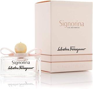 Perfumes miniaturas originales de mujer como detalles para bodas Ferragamo Signorina Eau de parfum 5 ml. para regalar