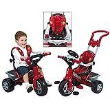 FEBER Trike Ferrari - Tricycle 3 en 1 pour enfants de 1 à 3 ans, Rouge (Famosa 800010946)