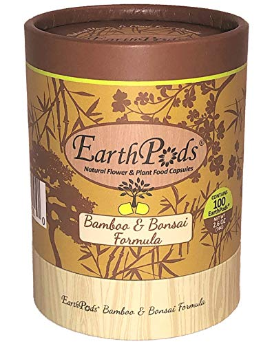 EarthPods Premium Bamboo + Bonsai Plant Food – Easy Organic Fertilizer Spikes – 100 Capsules – Enhance Color, Root + Foliar Growth (Great On All Bonsai Tree & Bamboo Plant Types, Ecofriendly)