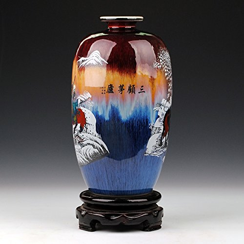 YYHSND Cerámica Porcelana características Horno Cambio grieta Esmalte Sangu Antiguo salón Muebles para el hogar Joyería Artesanal