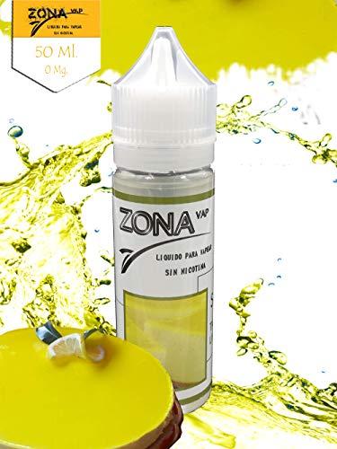 Zona Vap Tarta de Limón 50ml E líquido Liquido Vaper Para Cigarros electronicos 60VG/40PG E Liquid Cigarrillo Electronico Premium Vapear 0mg Nicotina