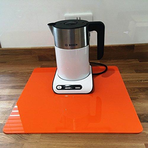 Super Cool Creations Orange Carré Protection Plan De Travail - Orange, Large - 45 x 45 cm