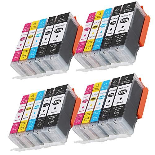 Caidi 20 550XL 551XL - Cartuchos de tinta compatibles con Canon Pixma MX925 iP7200 iP7250 MG5650 MG7550 MG6350 MG6650 MX725 MX920 MG6450 MG5550
