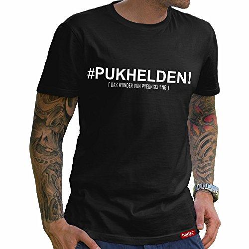 HARIZ PUKHELDEN Das Wunder von PyeonChang // Original T-Shirt - Schwarz, XS-4XXL // Germany   Pyeongchang   Trikot   Medaille   Icehockey #Eishockey Deutschland Collection Black S
