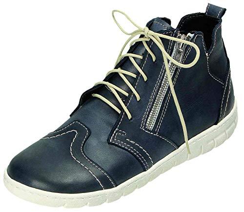 MICCOS Shoes Stiefel D.Schnürstfl in blau, Größe 37.0,