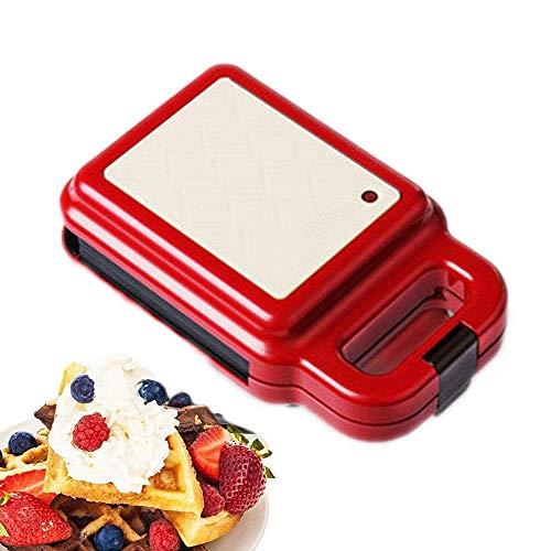 YWAWJ Mini Wafflera, Tostadora Sandwich de Temperatura automático de Control de la...
