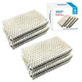 HQRP Humidifier Wick Filter Compatible with Sears Kenmore 14909, 14912, 32-14912, 42-14912, Emerson Essick Air AIRCARE HDC-2R & HDC-411, BestAir E2R Replacement, 4-Pack