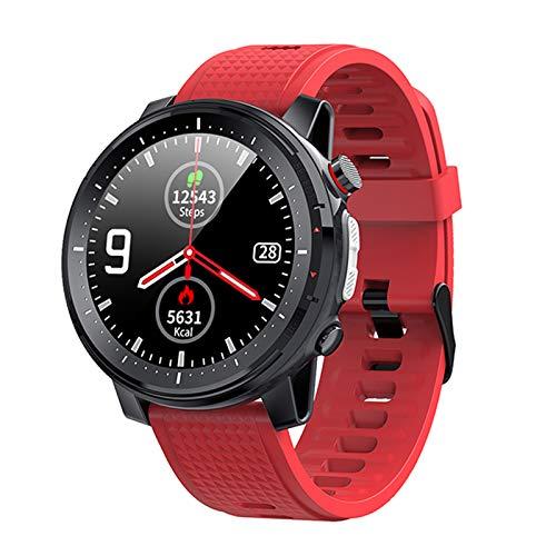 ZYY L15 Smart Watch 1.3 Pulgadas 360 * 360 Función Completa Pantalla Redonda Reloj Bluetooth con Linterna LED Reloj Deportivo De Fitness para Android iOS,A