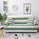 WXQY Funda de sofá elástica étnica Funda de sofá Totalmente Envuelta Funda de sofá geométrica elástica Funda de sofá Antideslizante Funda de sofá A4 1 Plaza
