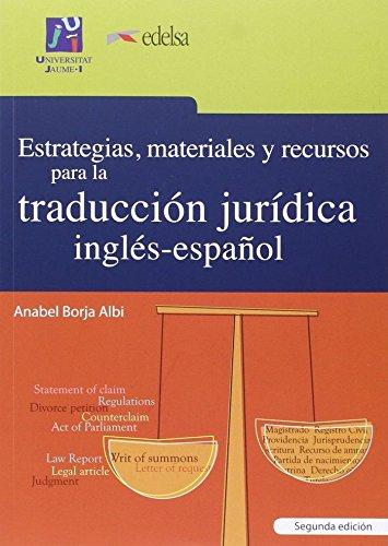 Estrategias, materiales recursos traducción jurídica