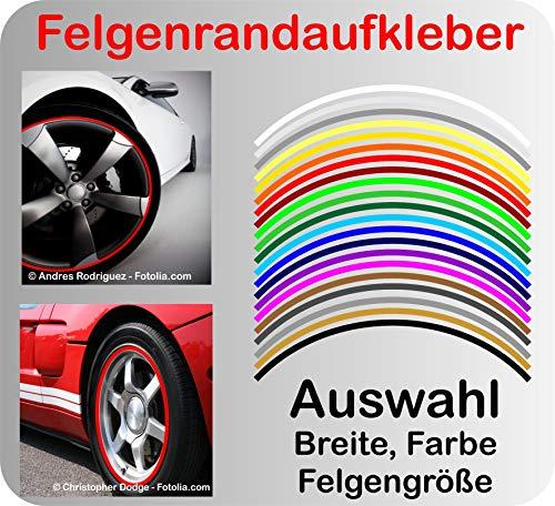 Generisch Felgenrand Aufkleber Auto & Motorrad Felgenrandaufkleber Felgenaufkleber Stripe