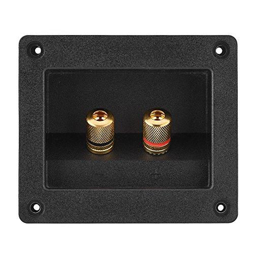 Altoparlante Terminale HiFi Altoparlante 2 Rame Binding Post Terminal Cable Box Box Shell Componenti Acustici