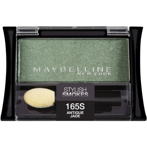 Maybelline New York Expert Wear Eyeshadow Singles, Antique Jade 165 High-pearl, 0.09 Ounce