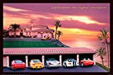 POSTER STOP ONLINE Justification for Higher Education - Poster (Classic 1980's Pink Design - Sports Cars) (Size 36' x 24')