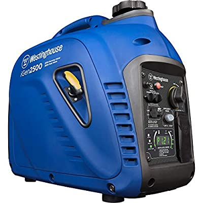 Westinghouse iGen2500 Portable Inverter Generator 2200 Rated & 2500 Peak Watts, Gas Powered, CARB Compliant