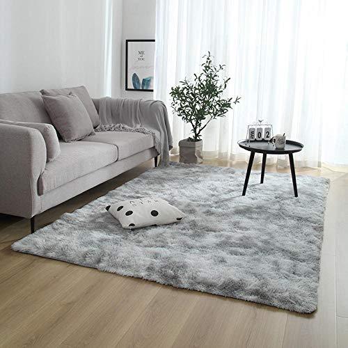 HXJHWB faux schapenvacht Ultra Soft Anti-slip - Lange haarband kleurstof gradiënt tapijt woonkamer slaapkamer