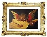 Rosso Fiorentino - Cuadro enmarcado (90 x 70 cm), diseño barroco antiguo con marco barroco con imagen de 70 x 90 cm, imágenes religiosas, arte repro, para casa, oficina, consulta, café