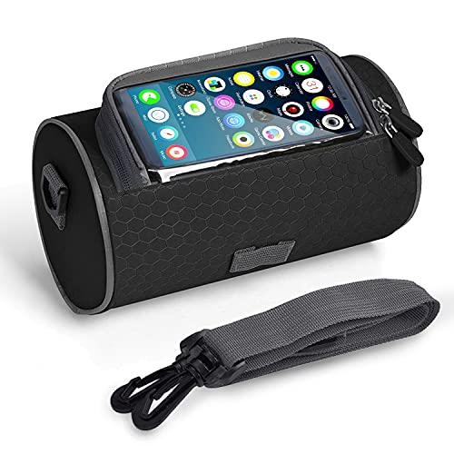 Bolsas para el Manillar de la Bicicleta MTB y Moto,Impermeable,Bandolera Extraíble,Soporte para Teléfono con Pantalla Táctil